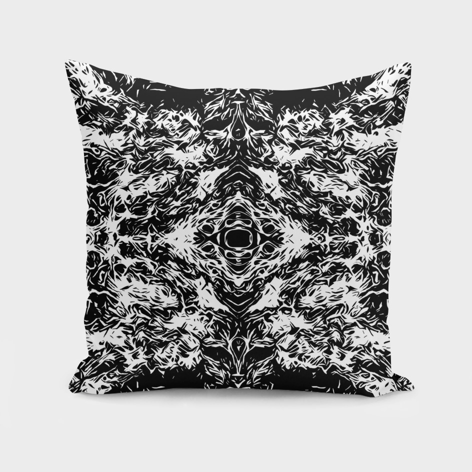 vintage psychedelic graffiti art abstract in black and white