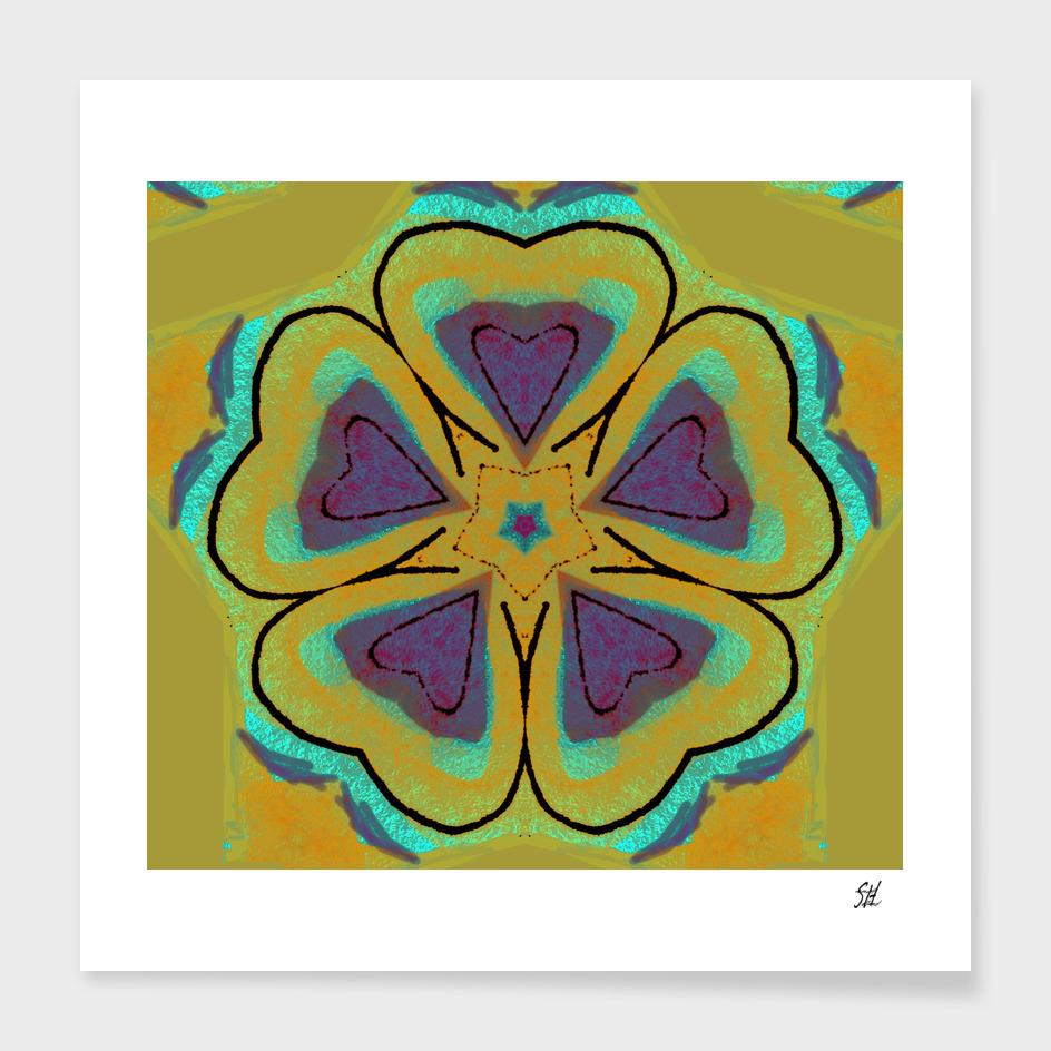 Modern Folk Art Hearts