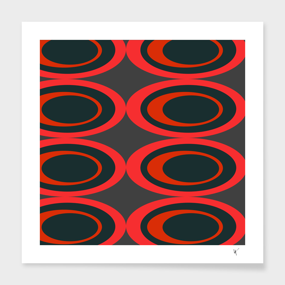 Retro Ovals - Raspberry Beret
