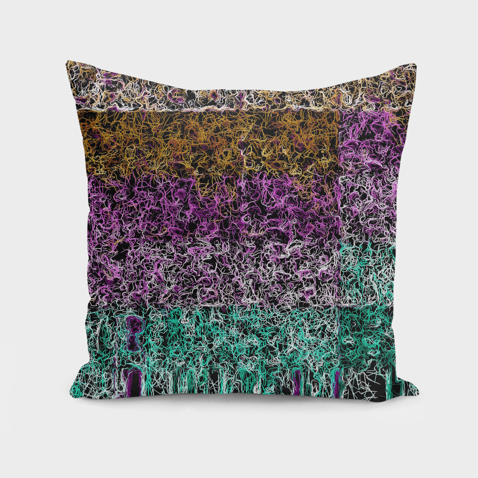 psychedelic geometric abstract in purple pink brown green