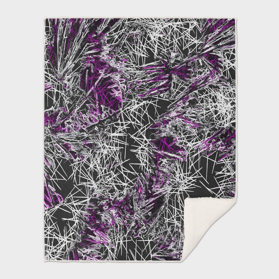 psychedelic geometric abstract in pink purple black