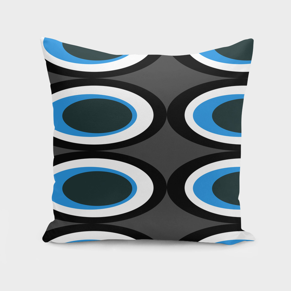 Retro Ovals - Midnight Blue