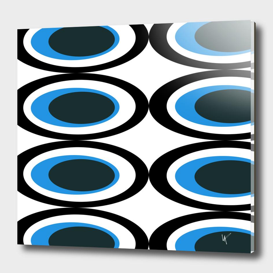 Retro Ovals - Midnight Blue II