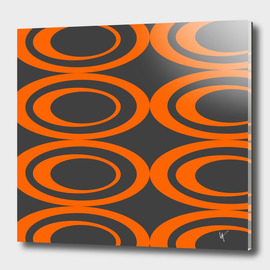 Retro Ovals - Orange Peels