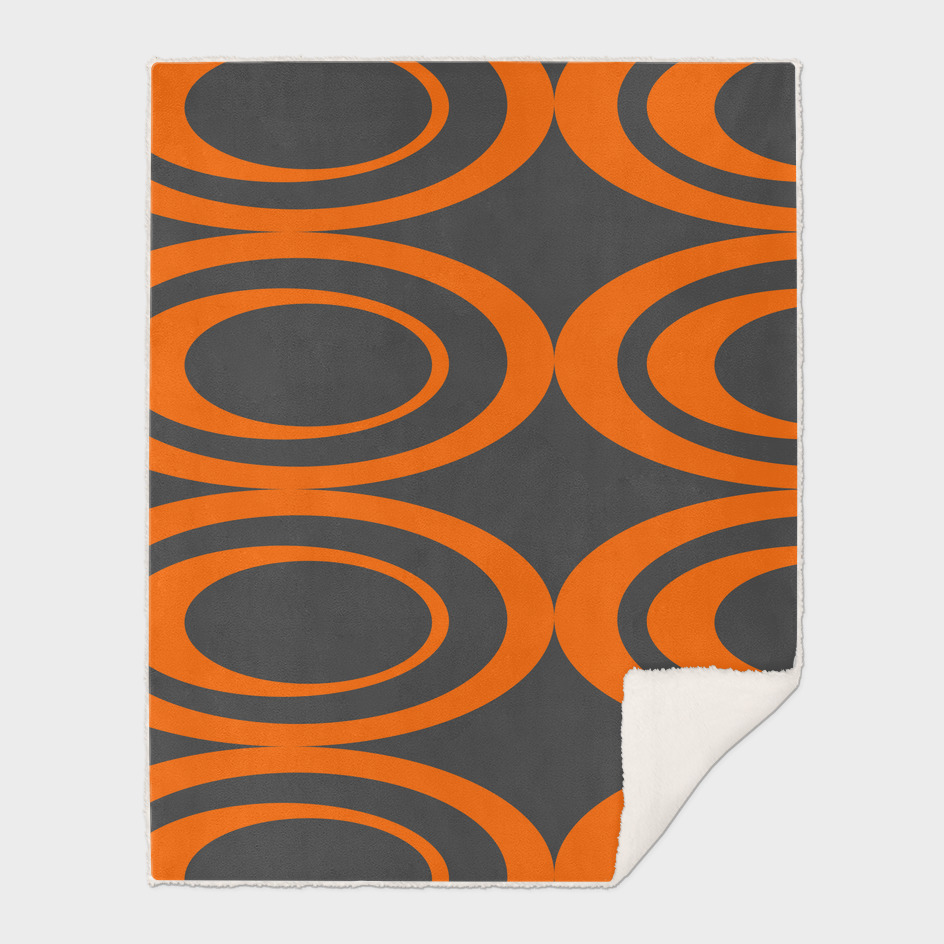 Retro Ovals - Orange Peels