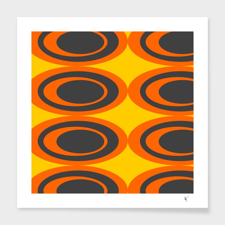 Retro Ovals - Peeled Oranges