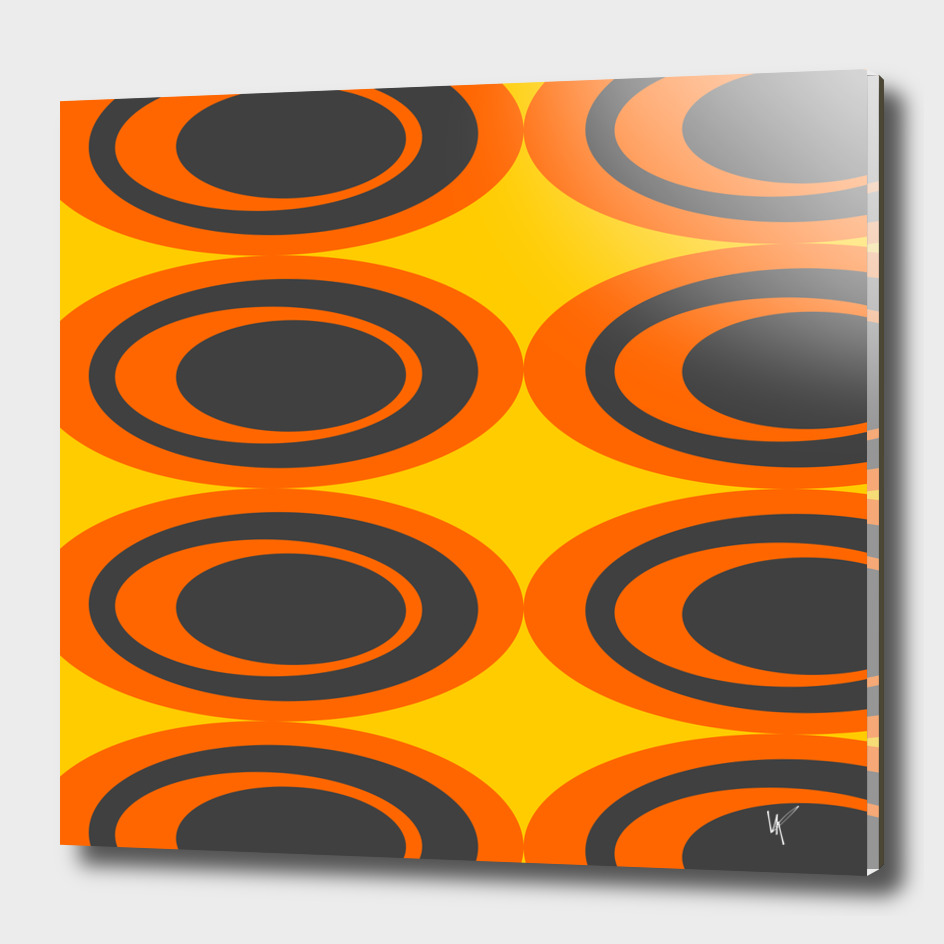 Retro Ovals - Peeled Oranges