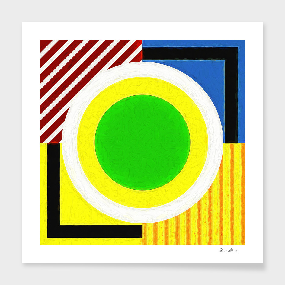 Geometric Pattern 1 Impasto Painting