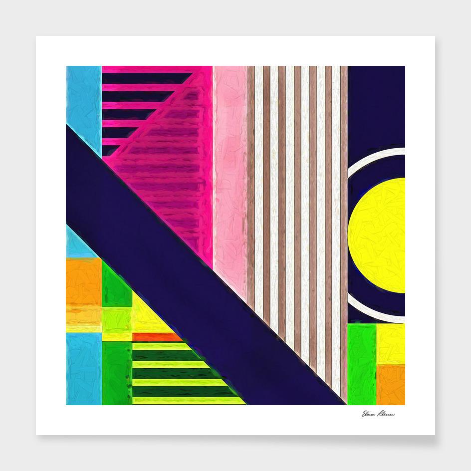 Geometric Pattern 2 Impasto Painting