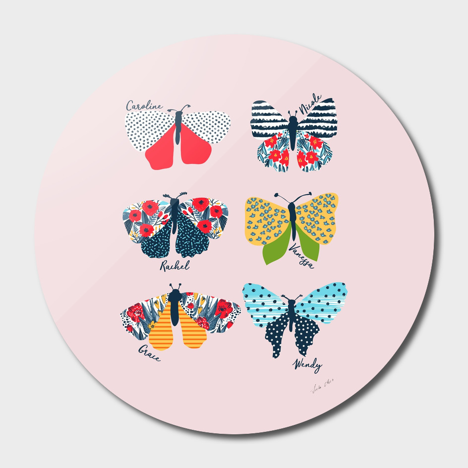 Funny butterflies illustration