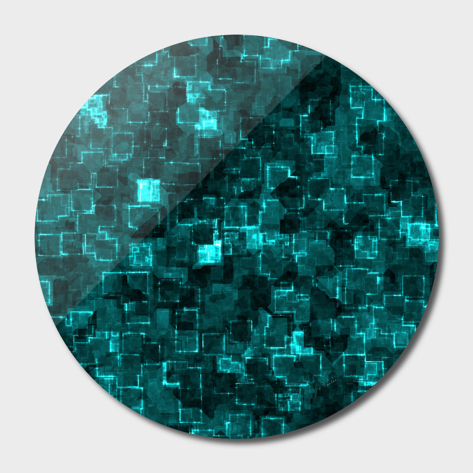 Abstract Aqua Cyber glow