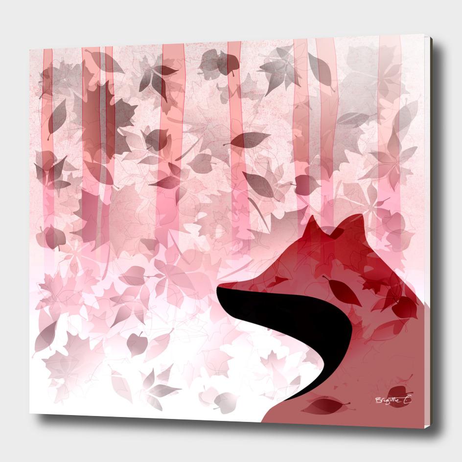 Fox In Falling Leaves Unique Design