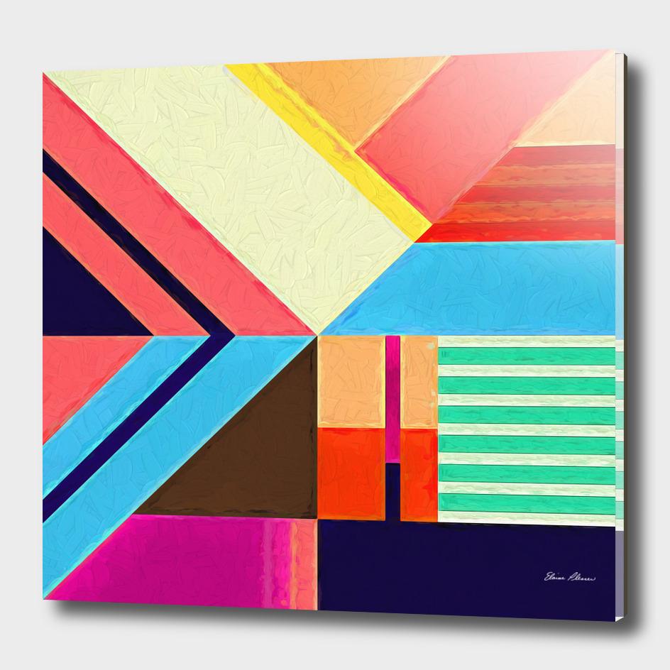 Geometric Pattern 6 Impasto Painting