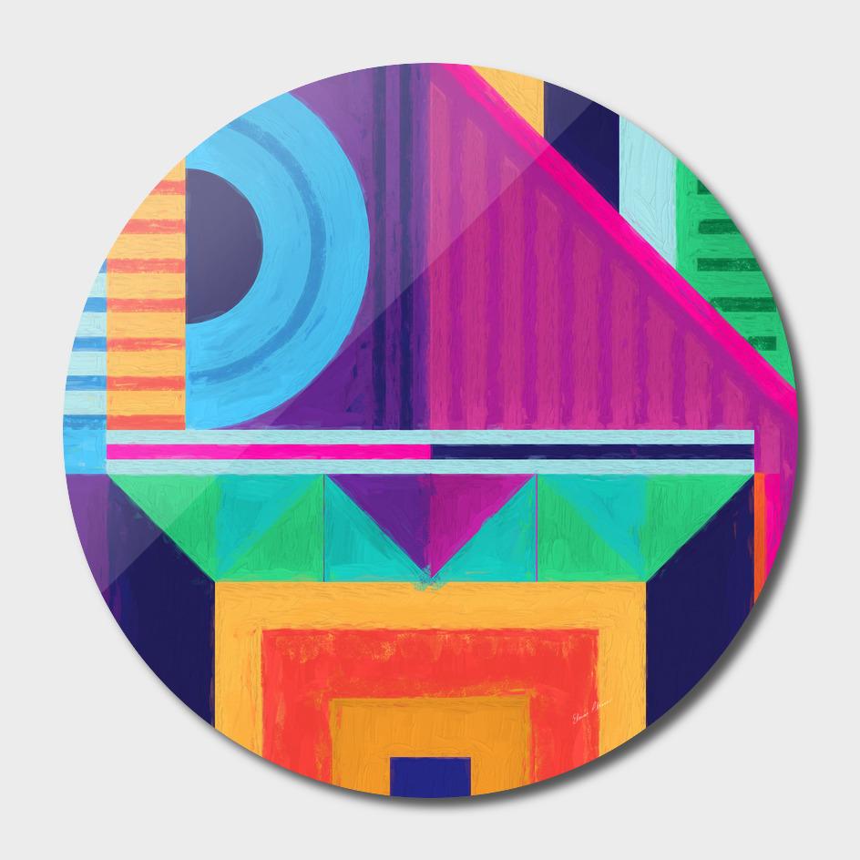 Geometric Pattern 7 Impasto Painting