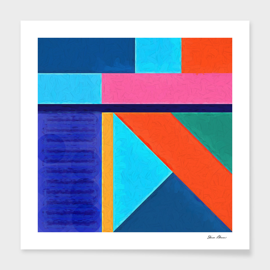 Geometric Pattern 10 Impasto Painting
