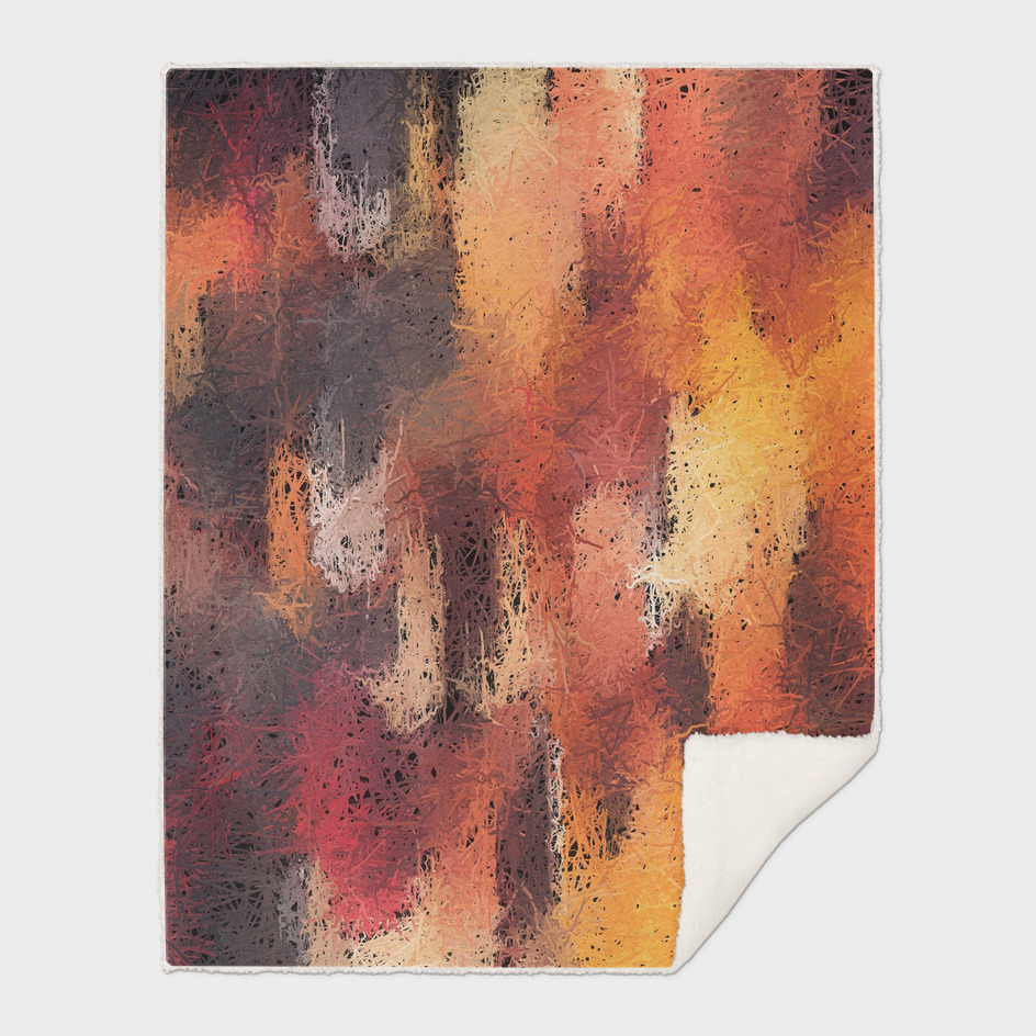 psychedelic camouflage painting abstract in brown orange
