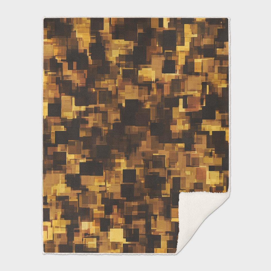 geometric square pattern abstract in brown and black