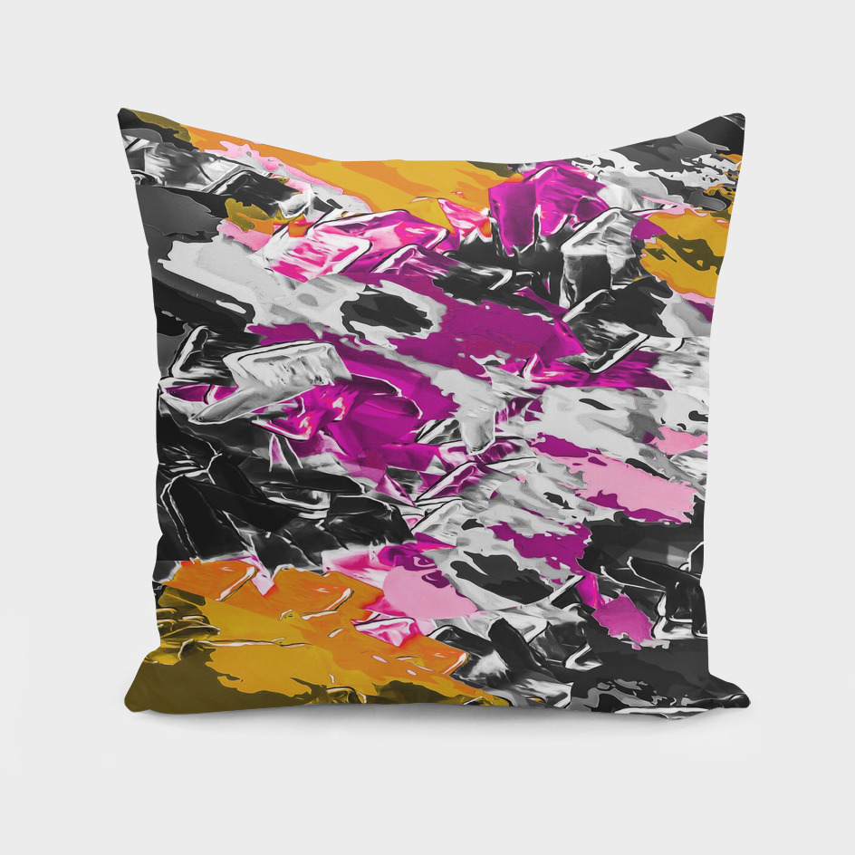 purple pink yellow brown black painting texture