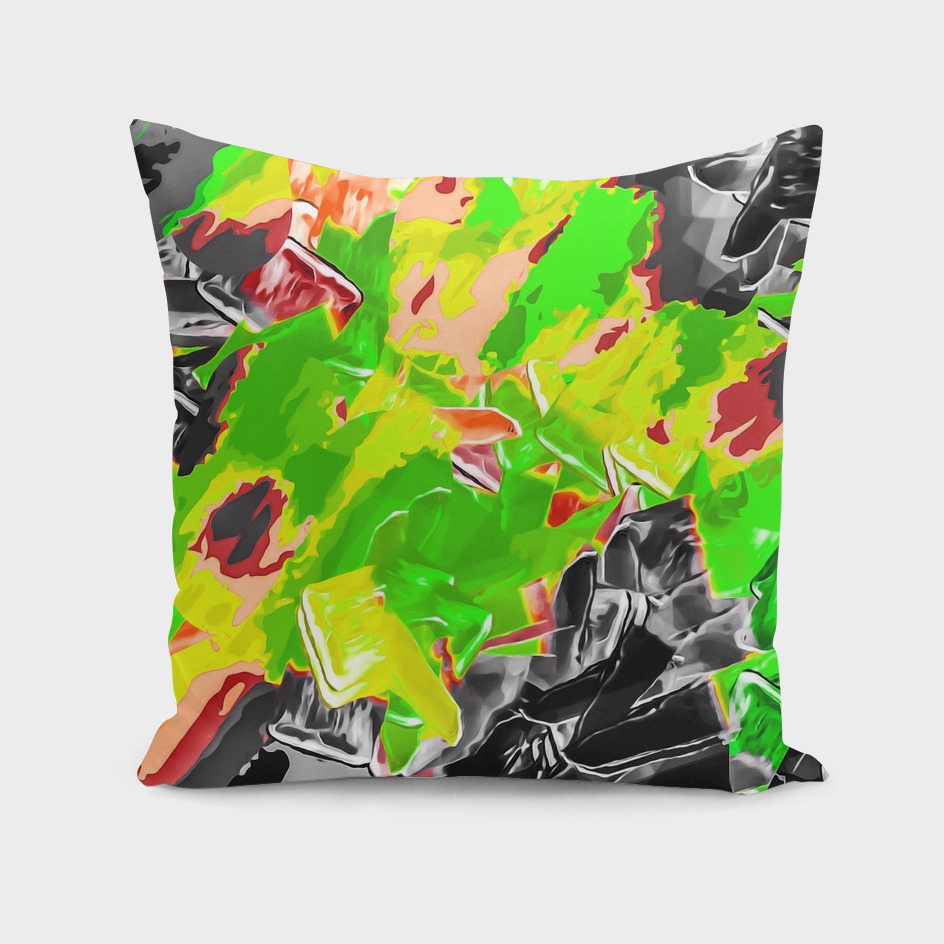 green yellow brown black painting texture abstract