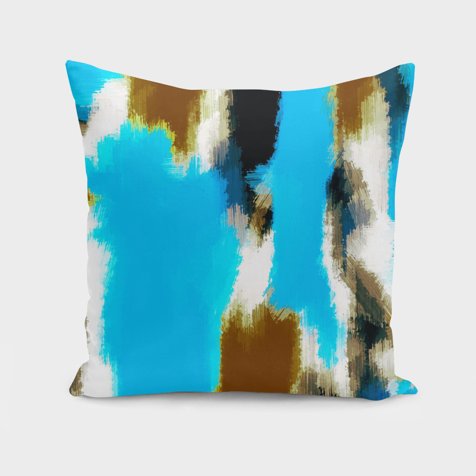 blue brown black abstract painting background
