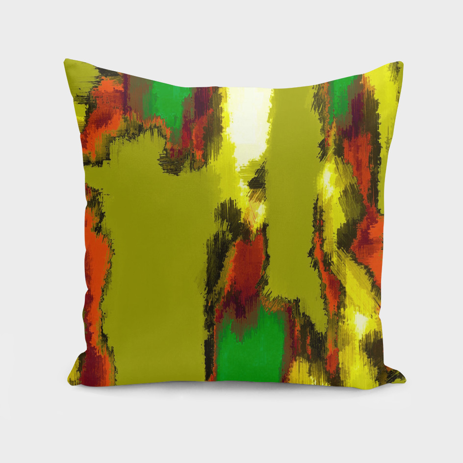 red green yellow painting abstract background