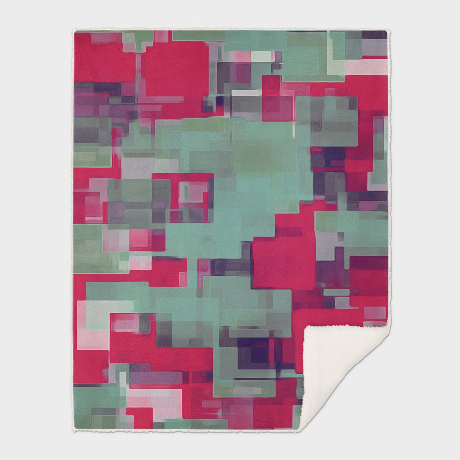 red and green square pattern abstract background