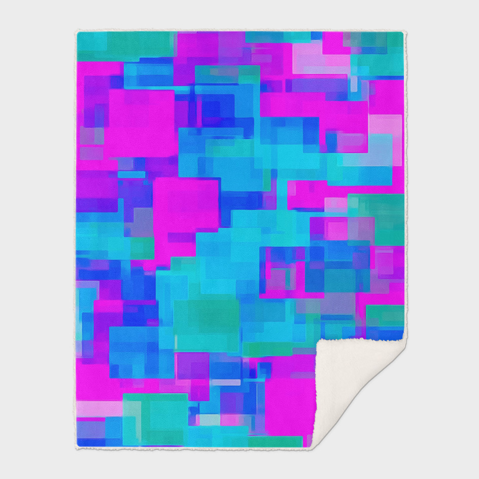 pink and blue square pattern abstract background