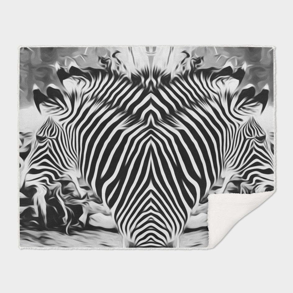 black and white zebras background