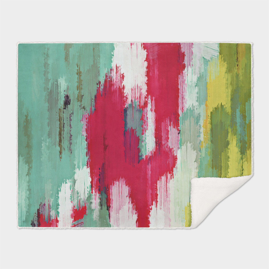 yellow green red abstract painting texture background