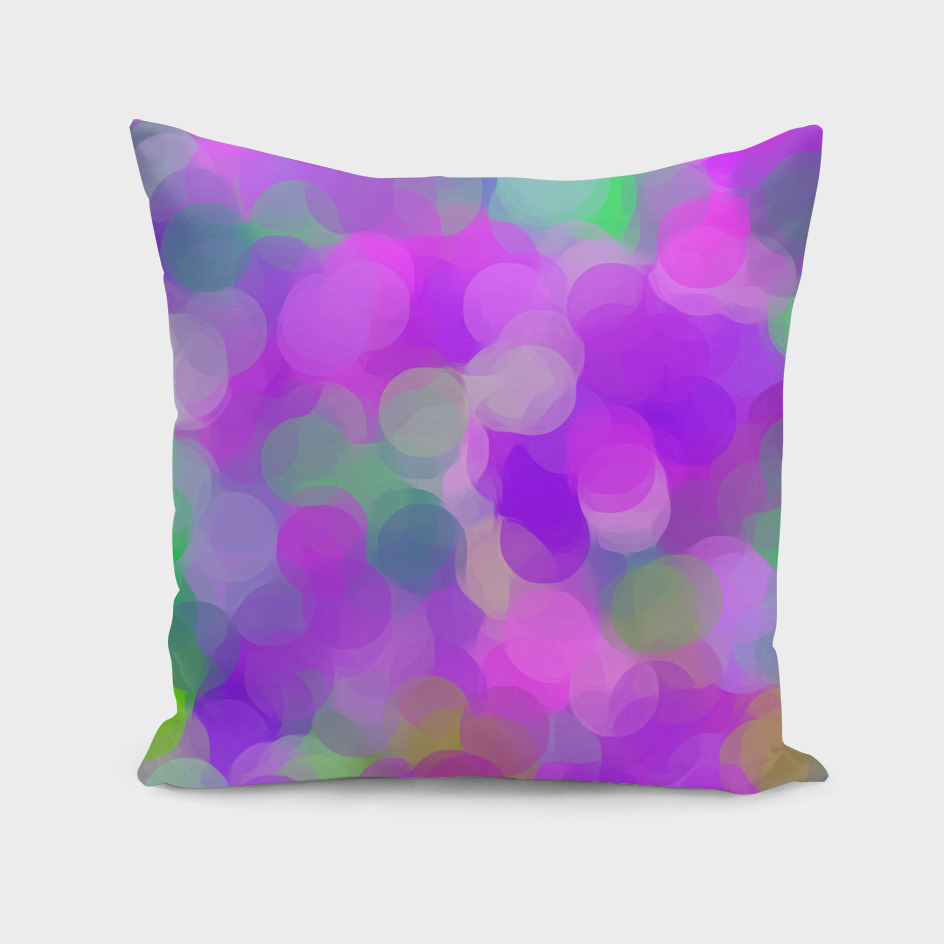 pink purple green circle pattern abstract background