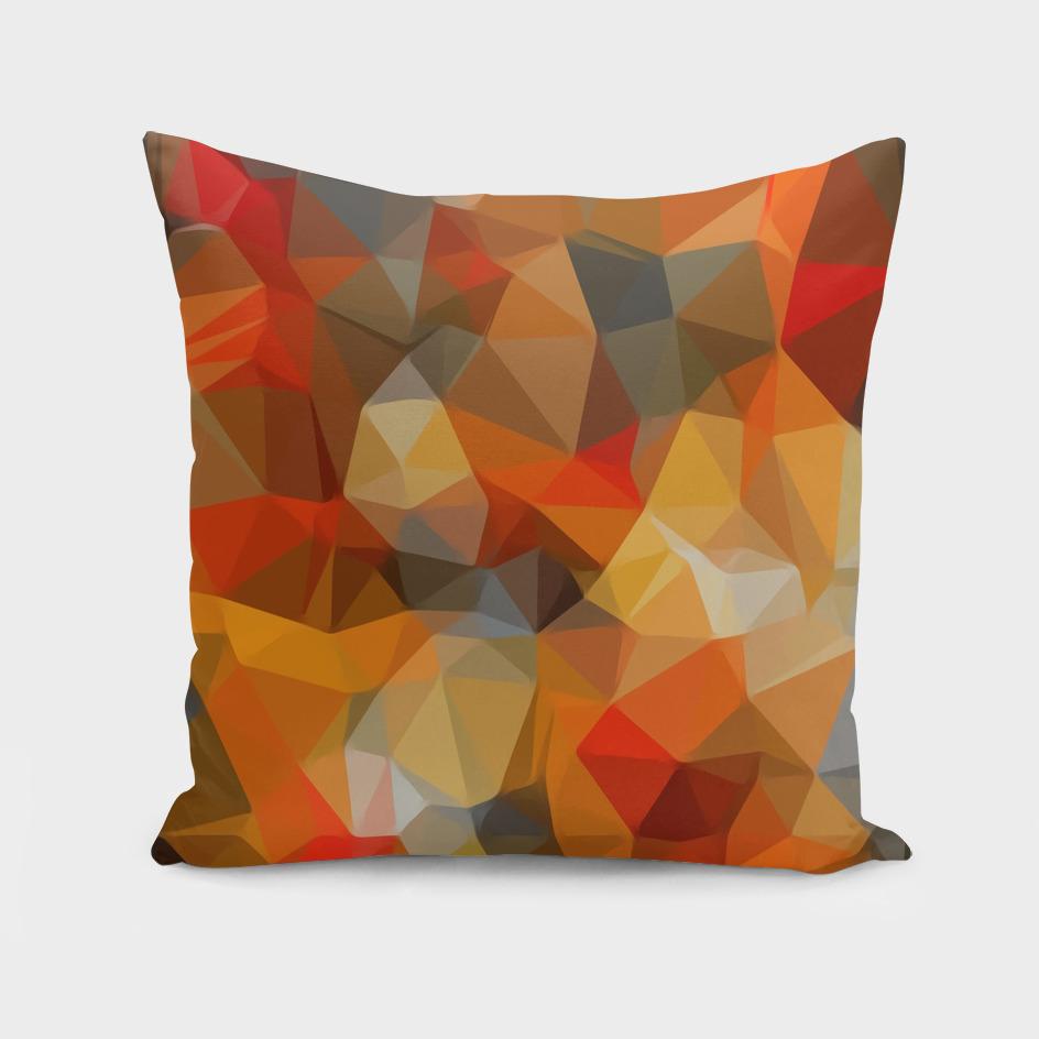 geometric polygon triangle abstract pattern in orange black