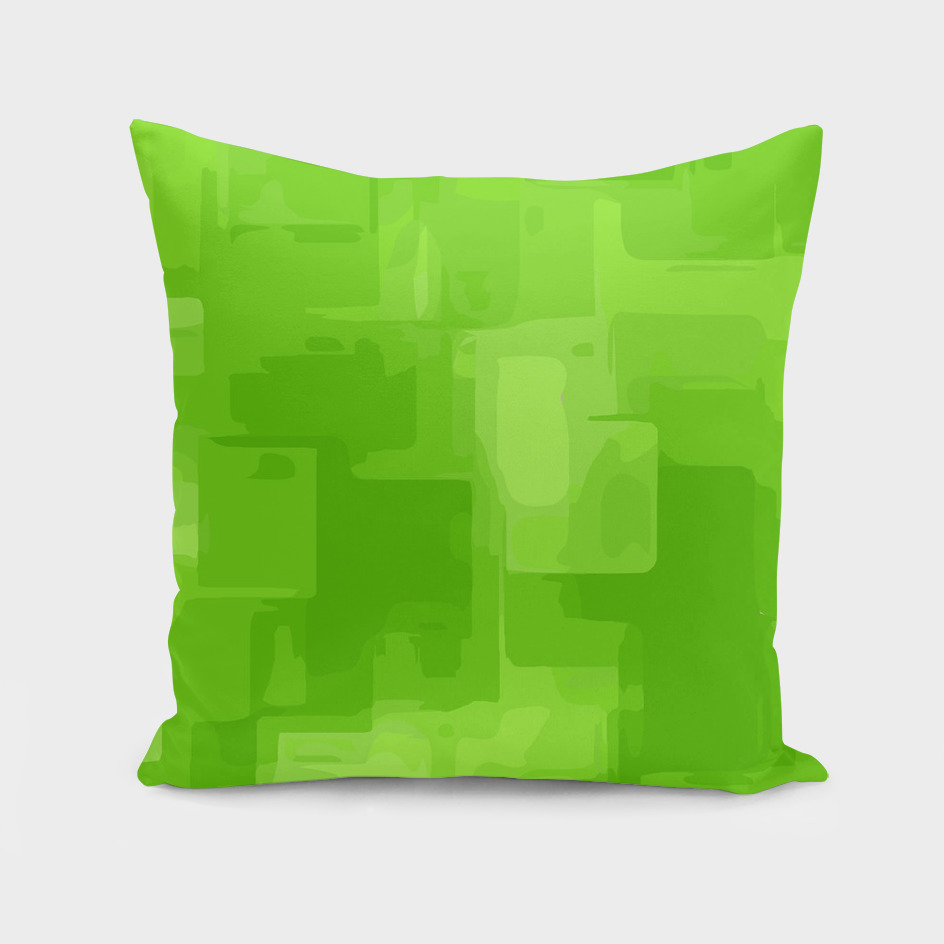 geometric square pixel pattern abstract in green