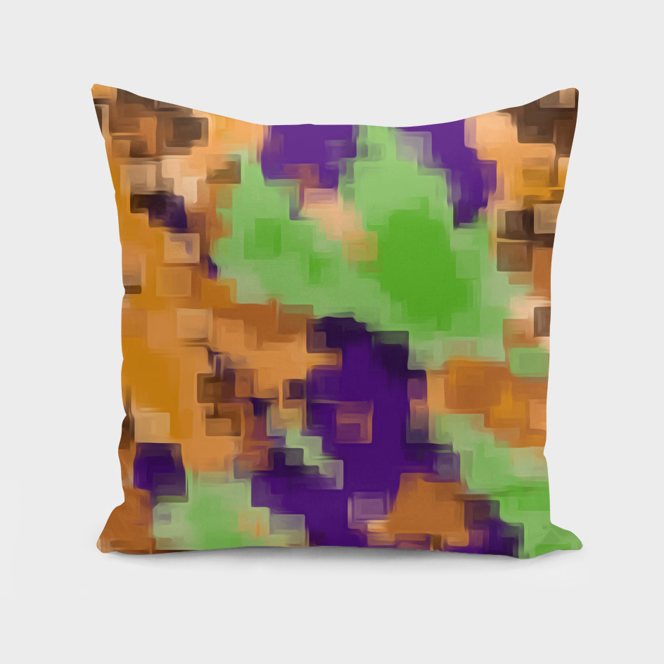 brown purple green square pattern abstract background