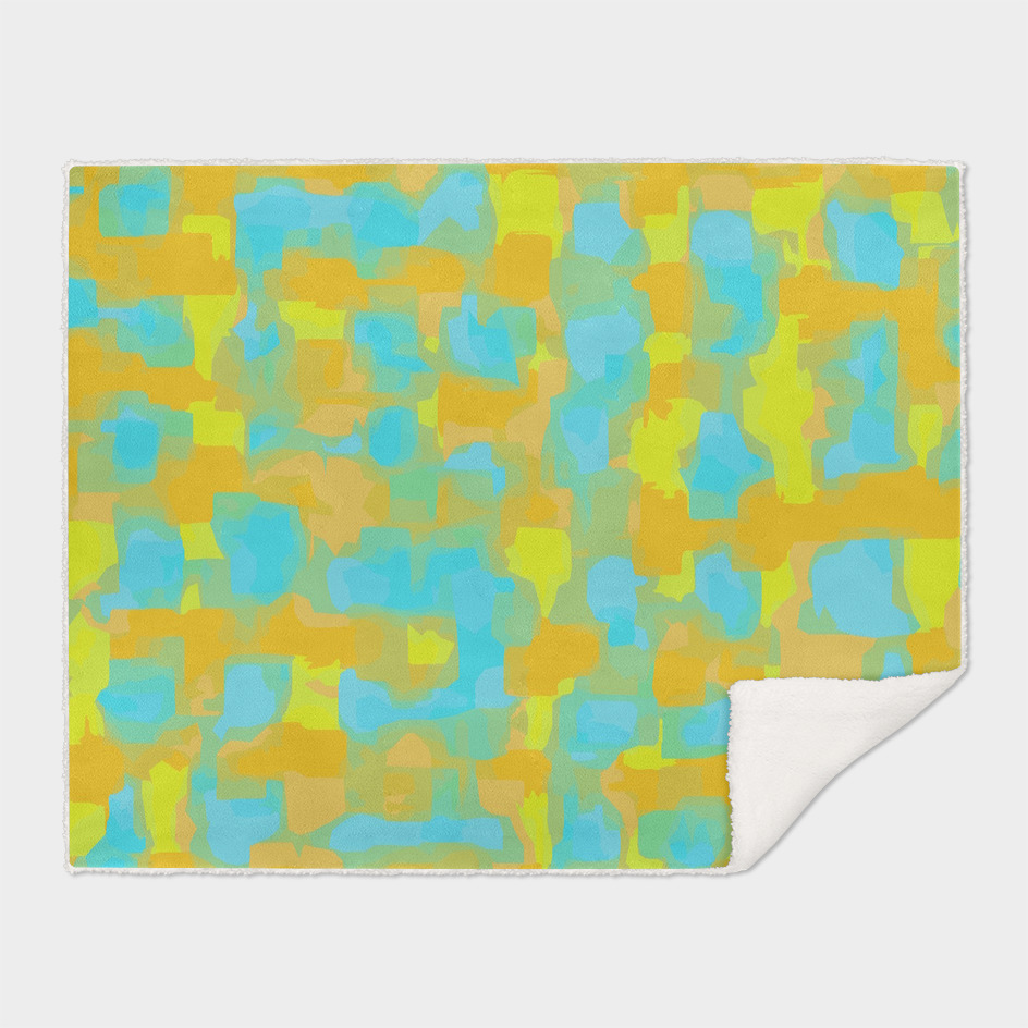 yellow and blue abstract painting background
