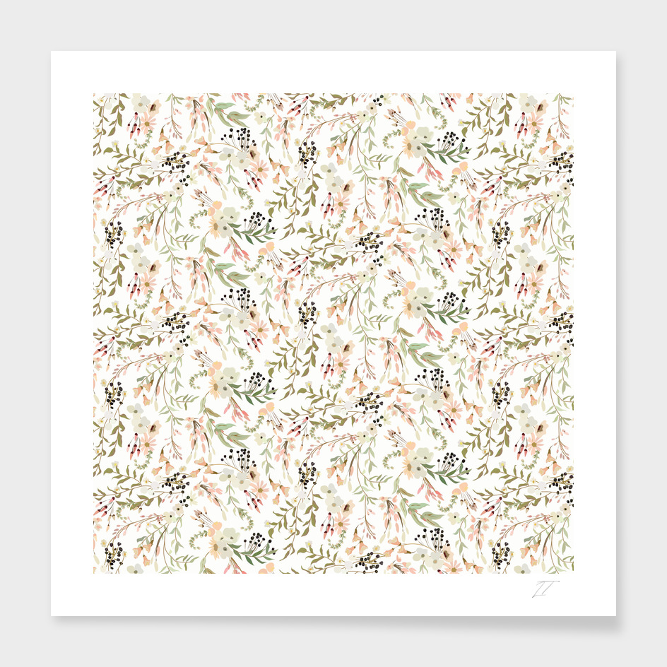 Intricate Ditsy Floral Pattern