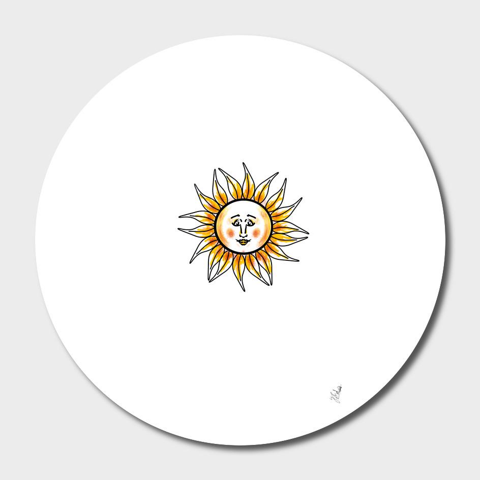 The sunflower face