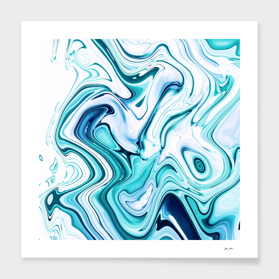 Liquid Marble - Aqua & Blues