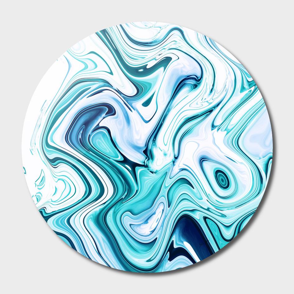 Liquid Marble - Aqua & Blues