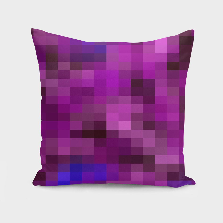 geometric pixel square pattern abstract in purple and blue