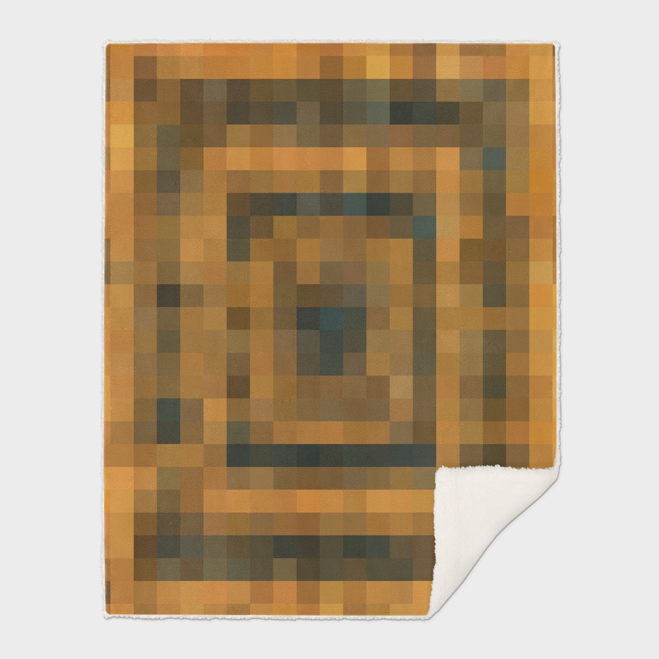 geometric pixel square pattern abstract in brown and black