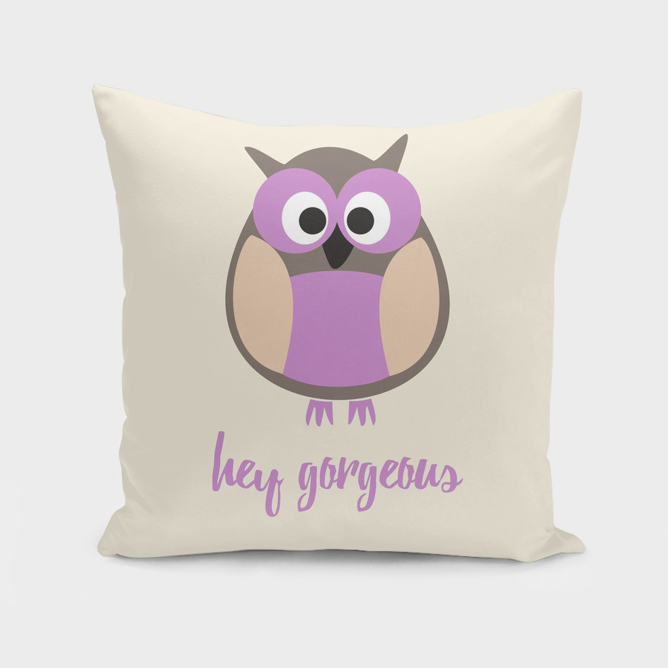 Hello gorgeous purple owl