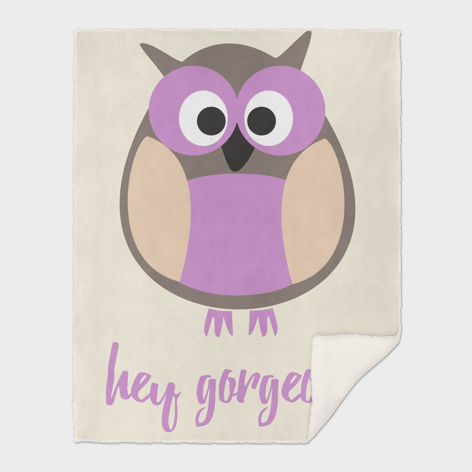 Hello gorgeous purple owl