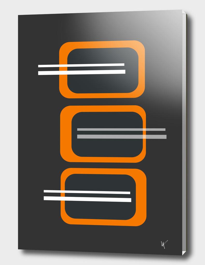Retro Blocks - Orange and Brown
