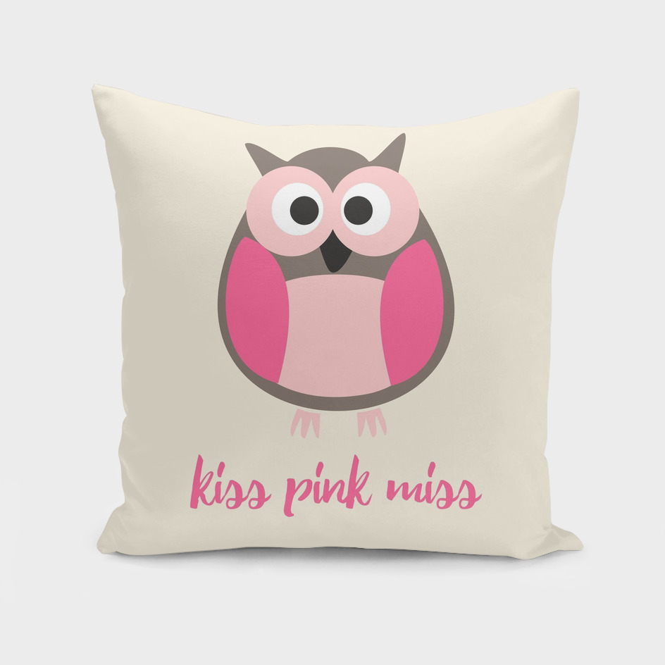 Kiss pink miss owl