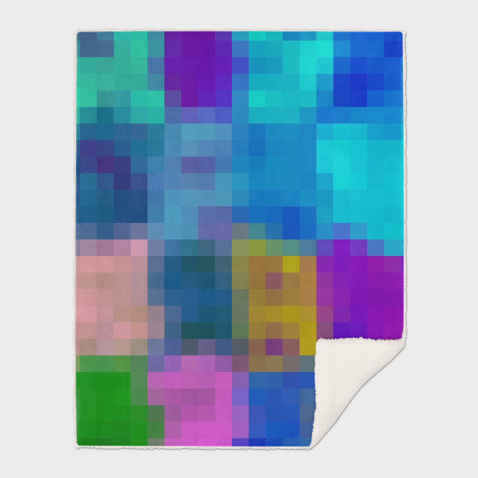 geometric square pattern pixel abstract in purple blue brown