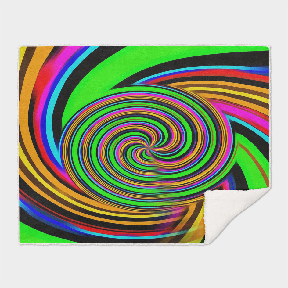 rainbow curly line pattern abstract background