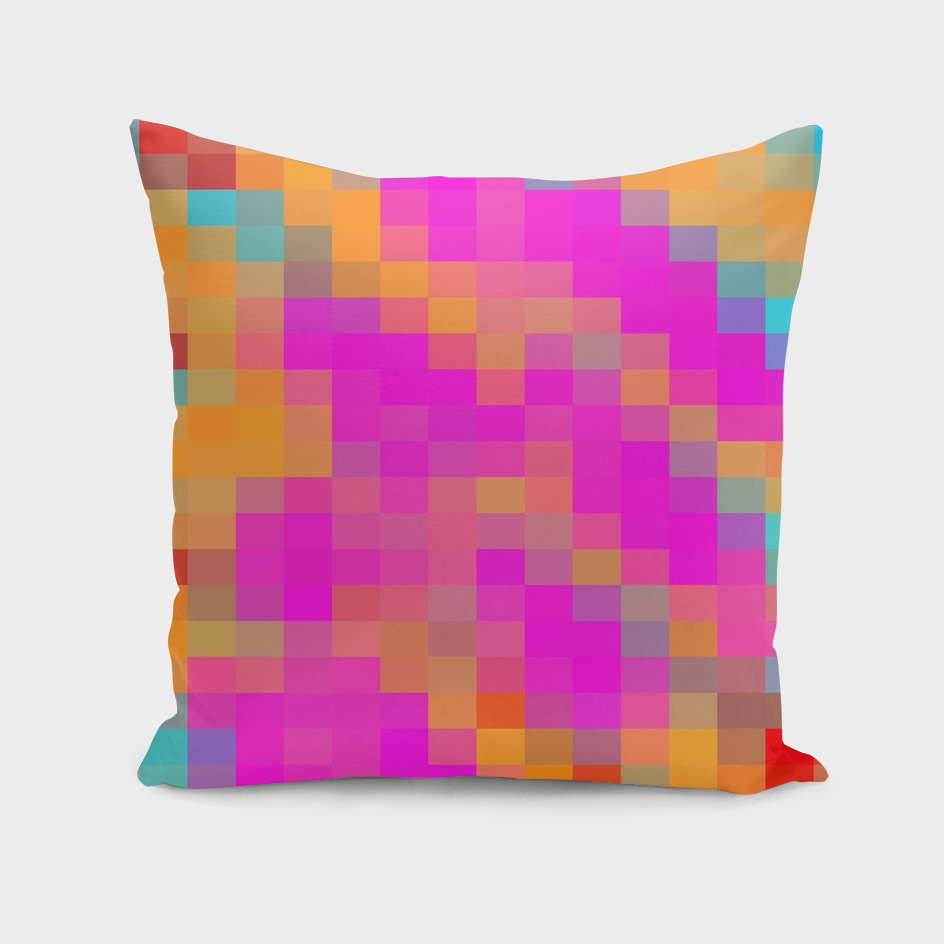 pink blue red orange pixel abstract background