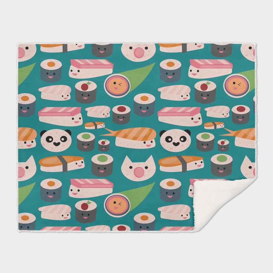 KAWAII sushi teal
