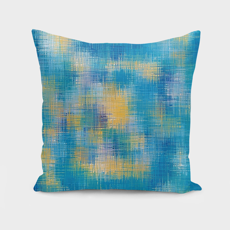 blue and yellow painting texture abstract