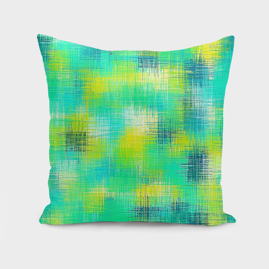 vintage painting texture abstract in green yellow and blue